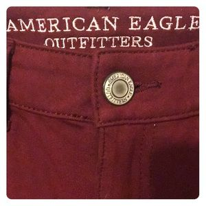 American Eagle Red Jeggings Size 6